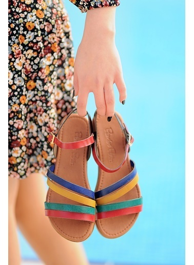 Pembe Potin A221-20 Kadın sandalet A221-20 Renkli